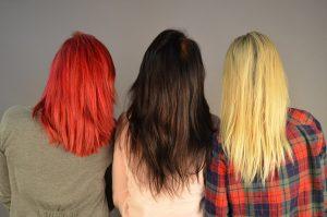 teinture rouge cheveux noirs